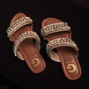 Guess Flat Blinged Out Sandals